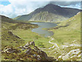 SH6459 : Llyn Idwal from Devil's Kitchen by Gary Rogers