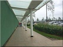 SJ8545 : Royal Stoke University Hospital: covered walkway to main entrance by Jonathan Hutchins