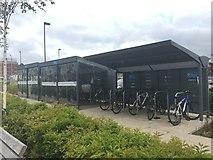 SJ8545 : Royal Stoke University Hospital: cycle racks by Jonathan Hutchins