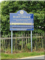 TM1374 : Hartismere Day School & Six Form College sign by Adrian Cable