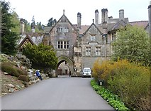 NU0702 : Looking back to the North Front on the way back to the car park at Cragside by Derek Voller
