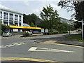 SN5981 : Derbynfa = Reception, main entrance to Penglais Campus, Aberystwyth University by Robin Stott