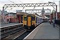 SJ8397 : Northern Rail Class 150, 150214, Deansgate railway station by El Pollock