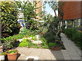 TQ3483 : Courtyard garden, St Joseph's Hospice, Hackney by David Hawgood