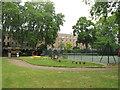 TQ3082 : Playground and tennis court, Mecklenburgh Square by David Hawgood