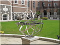 TQ3082 : Sundial, London House, Goodenough College by David Hawgood