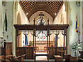 TM0157 : St Andrew, Great Finborough - Screen by John Salmon