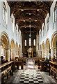 TF0919 : Interior, Abbey church of Ss Peter & Paul, Bourne by Julian P Guffogg