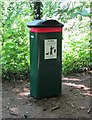 SO8577 : New dog waste bin (giant size) in Hurcott Wood, near Kidderminster by P L Chadwick