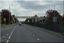 TQ1372 : Footbridge over the A316 by N Chadwick