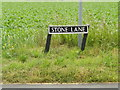 TM0884 : Stone Lane sign by Adrian Cable