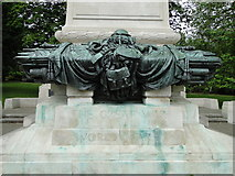 TM1644 : Bronze sculpture on the Memorial in Christchurch Park by Adrian S Pye