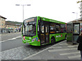 SN5881 : A 'Mid Wales Travel' bus at the recently re-vamped Aberystwyth bus station by John Lucas