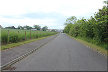NS3528 : Exit Road from Monkton & Prestwick New Cemetery by Billy McCrorie