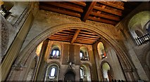 TL7835 : Castle Hedingham: The banqueting hall in the Norman keep by Michael Garlick