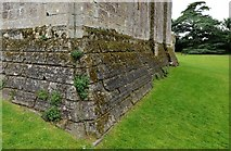 TL7835 : Castle Hedingham: The north east corner of the Norman keep by Michael Garlick