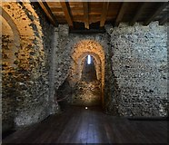 TL7835 : Castle Hedingham: The Norman keep; Storeroom 2 by Michael Garlick