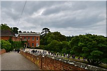 TL7835 : Castle Hedingham: The Queen Anne mansion house from the bridge by Michael Garlick