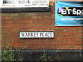 TM0386 : Market Place sign by Adrian Cable