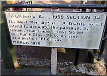 SO5923 : Highways Act 1959 Section 34 notice, Ross-on-Wye by Jaggery