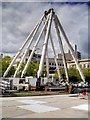 SJ8498 : Partly Dismantled Manchester Wheel at Piccadilly Gardens by David Dixon