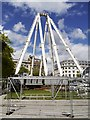 SJ8498 : Piccadilly Gardens, Partly-Dismantled Manchester Wheel by David Dixon