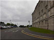 SN5981 : Bus stop outside the National Library of Wales by Basher Eyre