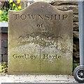 SJ9594 : Godley/Hyde Township boundary stone by Gerald England