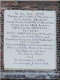 NZ2564 : Plaque on The Keelmens Hospital, City Road, NE1 (2) by Mike Quinn