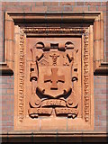 NZ2564 : Coat of arms on Sutherland House, College Street, NE1 (2) by Mike Quinn