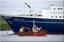 HU4841 : Shipping in Lerwick harbour by Mike Pennington