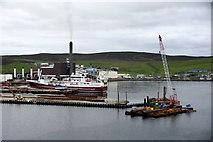 HU4642 : Extending a pier at Holmsgarth, Lerwick by Mike Pennington