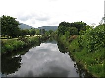 J3731 : The placid Tullybranigan River in Islands Park by Eric Jones