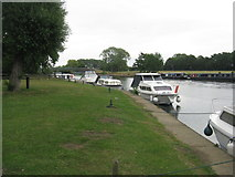 TL1351 : Moorings at Great Barford by M J Richardson