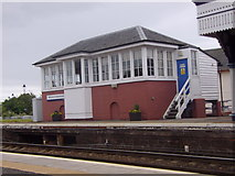 NO8686 : Signal Box, Stonehaven Station by Stanley Howe