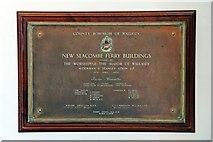 SJ3290 : Seacombe Ferry Buildings plaque by El Pollock