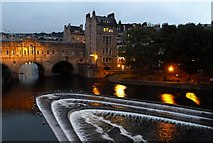 ST7564 : Pulteney Bridge and the Weir at night by Rob Farrow