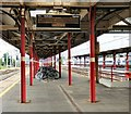 SJ8989 : Bicycles at Stockport Station by Gerald England