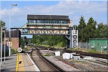 TR1458 : Canterbury West signal box by Keith Edkins