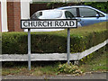 TM0081 : Church Road sign by Adrian Cable