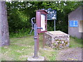 SN0905 : Village Pump and Information Board, Broadmoor by welshbabe