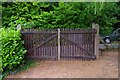 SO9063 : Gates to The Heriotts for disabled anglers from Heriotts Pool, Droitwich Lido, Droitwich Spa, Worcs by P L Chadwick