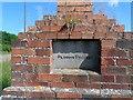 TL0343 : Inscription on brick monument (2) by Bikeboy