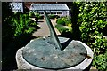 SU9747 : Loseley Park: The sundial in the herb garden by Michael Garlick