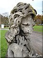 TQ7257 : Lion sculpture - close-up by Penny Mayes