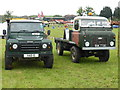 SP0361 : Steam and Vintage Rally, Astwood Bank - two Land Rovers by Chris Allen