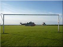 NT6779 : Coastal East Lothian : Chopper In Goal by Richard West
