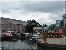 SE5023 : Hirst Boat Builders slipway, Knottingley by Christine Johnstone