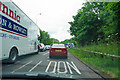 SP3375 : Stopped traffic on the Stivichall roundabout by Bill Boaden