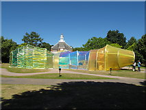 TQ2679 : Serpentine Gallery Pavilion 2015, outside view by David Hawgood